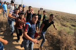 اصابة شاب برصاص الاحتلال شرقي البريج