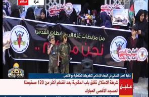 #فيديو وقفة نسائية في غزة نظمتها حركة الجهاد الاسلامي تضامنا مع الاقصى