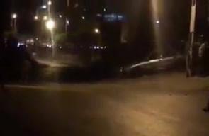 #شاهد  اندلاع مواجهات بين الشبان وقوات الاحتلال في منطقة بيت عينون شرق #الخليل.