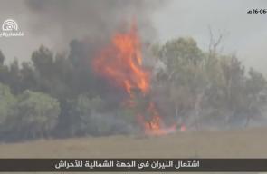 حرائق في المستوطنات الإسرائيلية المحاذية لقطاع غزة بفعل الطائرات والبالونات الحارقة