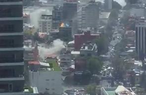 #فيديو زلزال المكسيك ينشر الدمار في كل مكان ويقتل حتى اللحظة 150 شخصًا