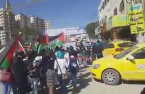 #شاهد مسيرة للأطفال في مخيم قلنديا شمال القدس المحتلة، تضامناً مع الأسرى المضربين في سجون الاحتلال