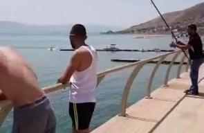 أجواء مباشرة من شاطئ بحيرة #طبريا هذه الأثناء ..