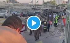 موقف سيارات في السعودية ونجاة شخص من الموت بأعجوبة