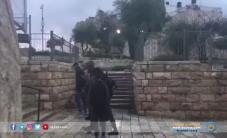 #شاهد قوات الاحتلال تعتقل أحد الشبان في منطقة باب العامود بالقدس المحتلة قبل قليل.