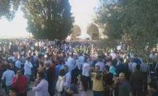 الاجواء الان من ساحات المسجد الاقصى المبارك  تصوير بلال الطويل