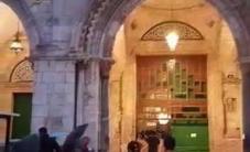 آذان المغرب من المسجد الأقصى المبارك قبل قليل