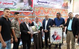 بحر يهنئ المحررة نسرين أبو كميل بالحرية