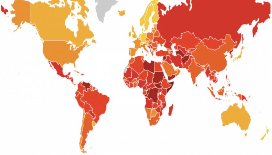 """تقرير دولي: أربعة دول عربية من """"الأشد فسادًا"""" في العالم"""
