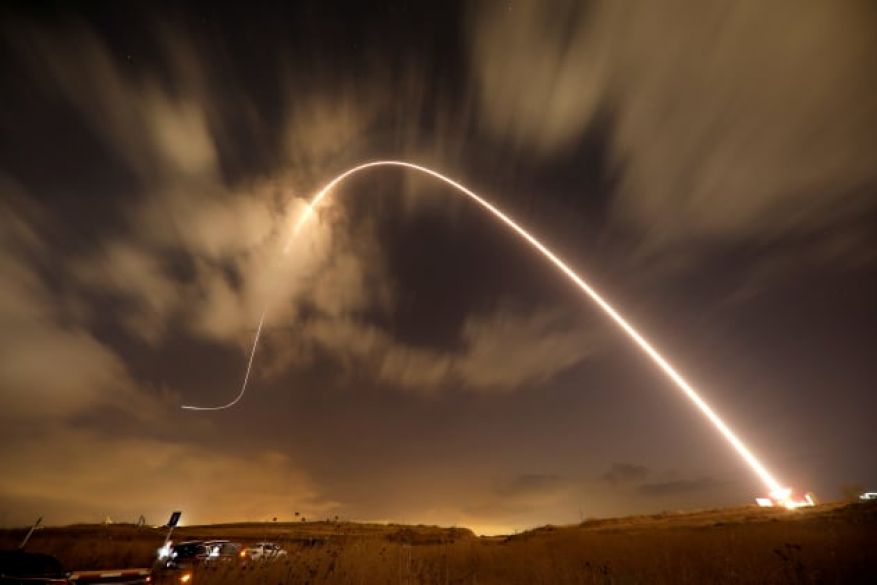صاروخ من غزة نحو عسقلان