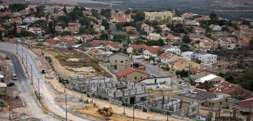 توقيع عقد بناء حي استيطاني غربي نابلس