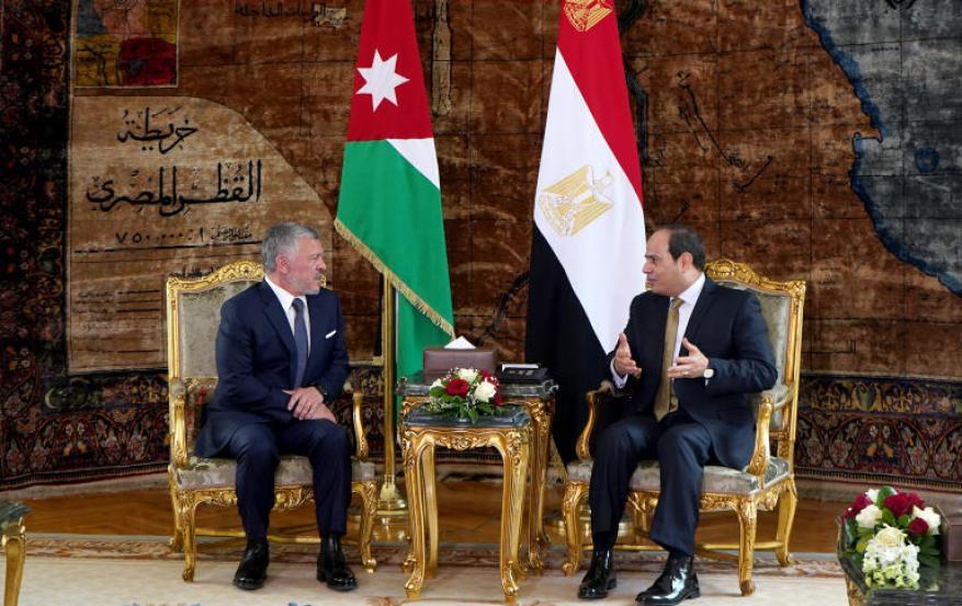 السيسي وملك الأردن يؤكدان دعمهما المتواصل لإقامة دولة فلسطينية وعاصمتها القدس