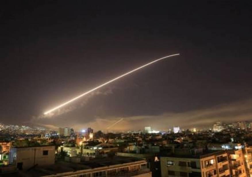 عدوان اسرائيلي على دمشق