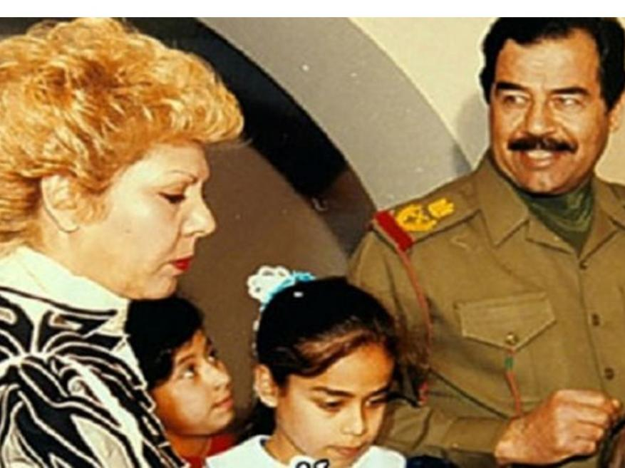 مشهد نادر لزوجة صدام حسين في لقاء مع زوجة مبارك