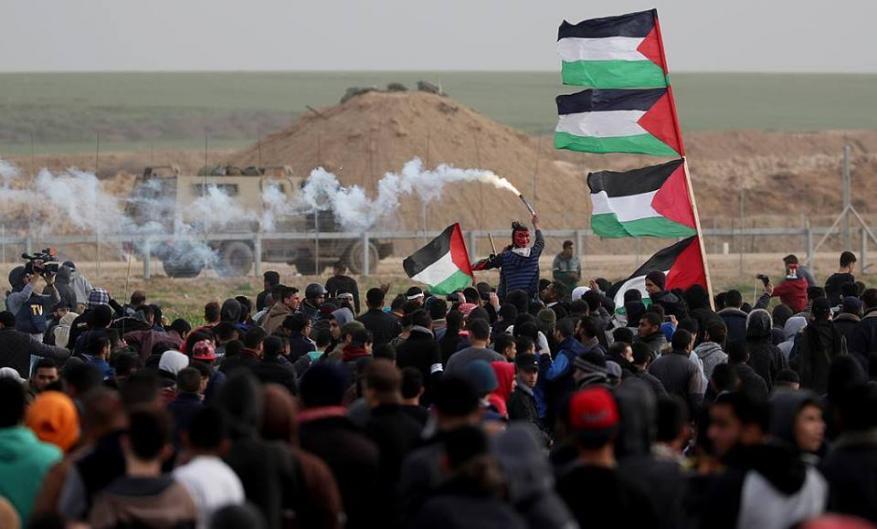 """هيئة مسيرات العودة تندد بعمليات التطبيع و""""تدجين"""" العقل العربي"""