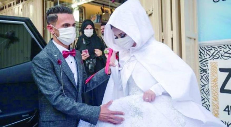 ارتفاع معدلات الزواج بغزة في ظل جائحة كورونا