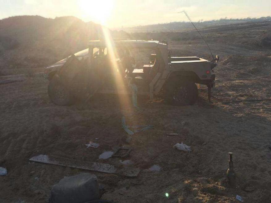 إصابة 3 جنود في انقلاب جيب عسكري شمال غزة