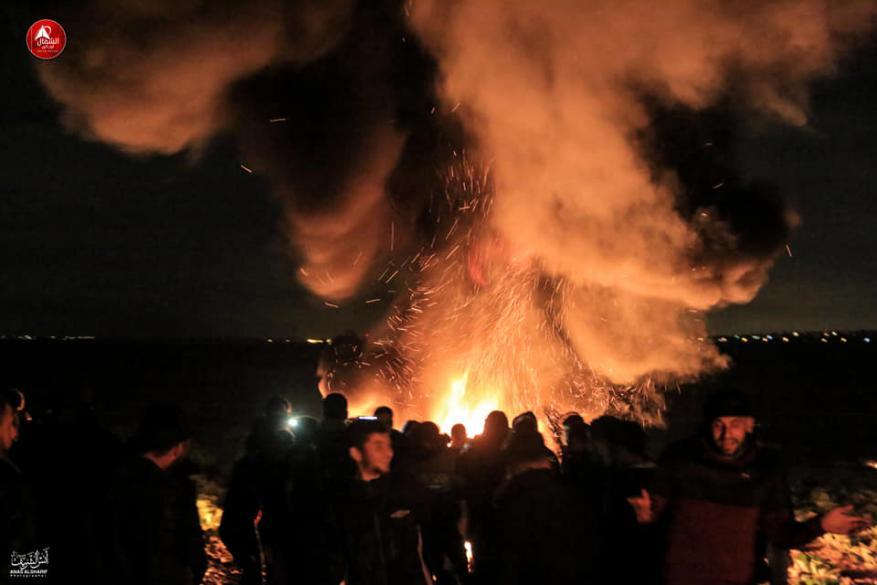 """""""الإرباك الليلي"""" يعود مجددا على السياج الفاصل شرق قطاع غزة"""