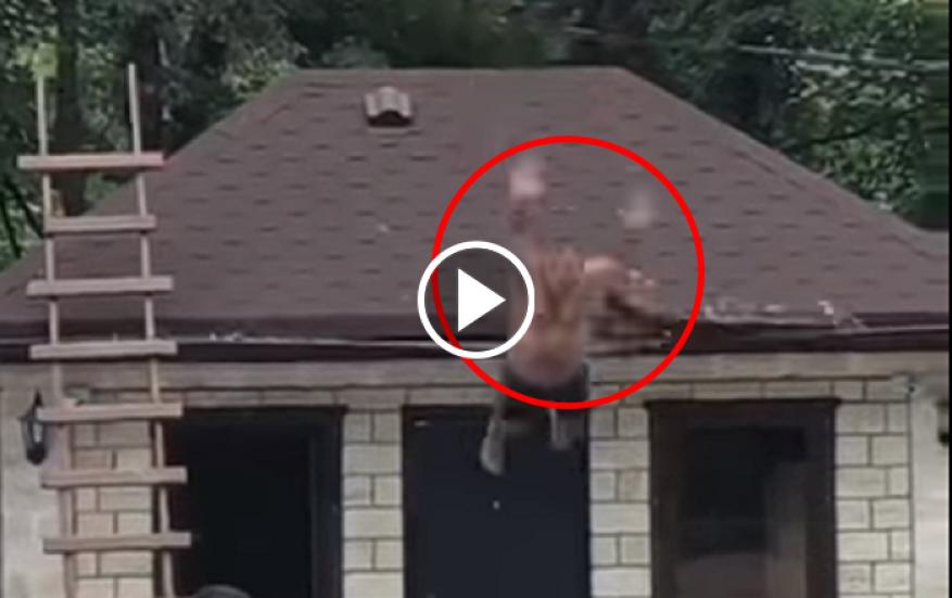 شاهد: رجل حاول القفز من أعلى في المسبح فكانت النتيجة مؤلمة جداً