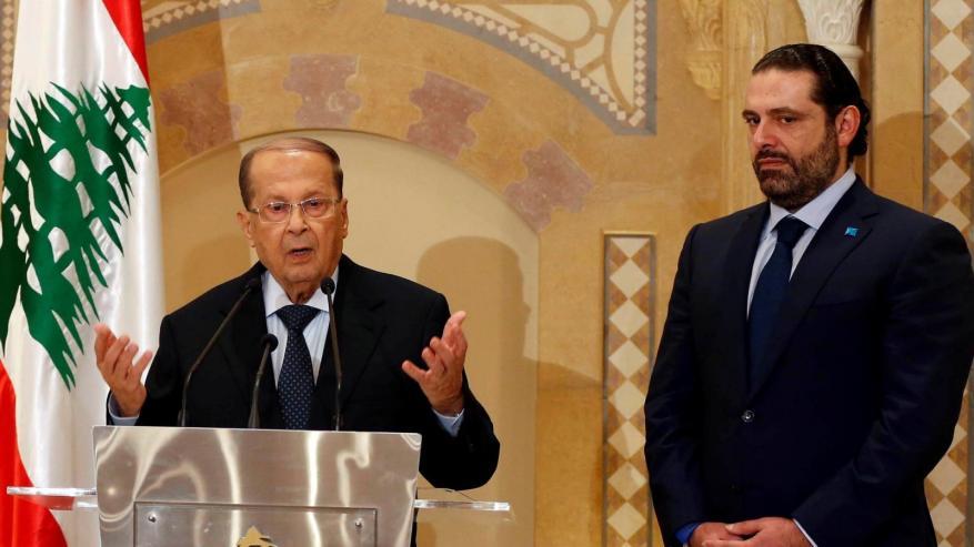 """""""فيديو مسرب"""" يرصد هجوم الرئيس اللبناني على الحريري.. والأخير يرد"""