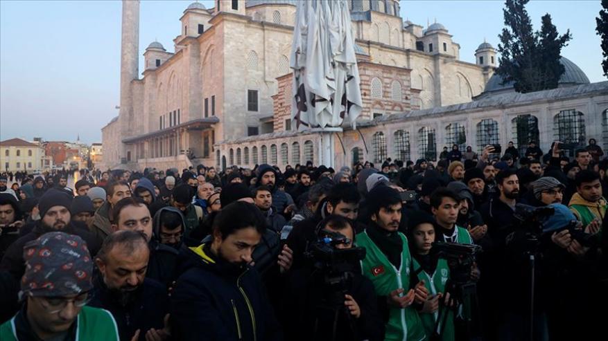 تركيا.. جمعيات مدنية تنتصر فَجرًا لخطيب الأقصى باسطمبول