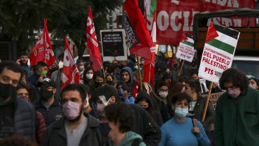 الأرجنتين.. مظاهرة منددة بعدوان إسرائيل بحق الفلسطينيين