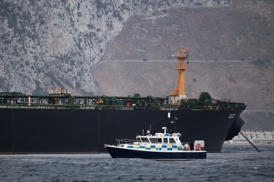 شرطة جبل طارق توقف قبطان ناقلة النفط الايرانية ومساعده