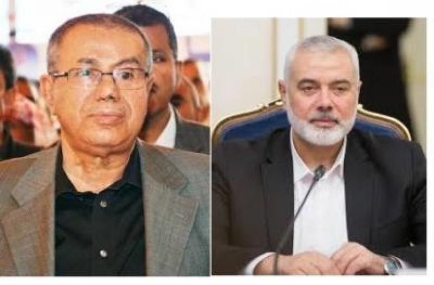 هنية يُطلع رئيس المؤتمر الشعبي باليمن على العدوان الإسرائيلي
