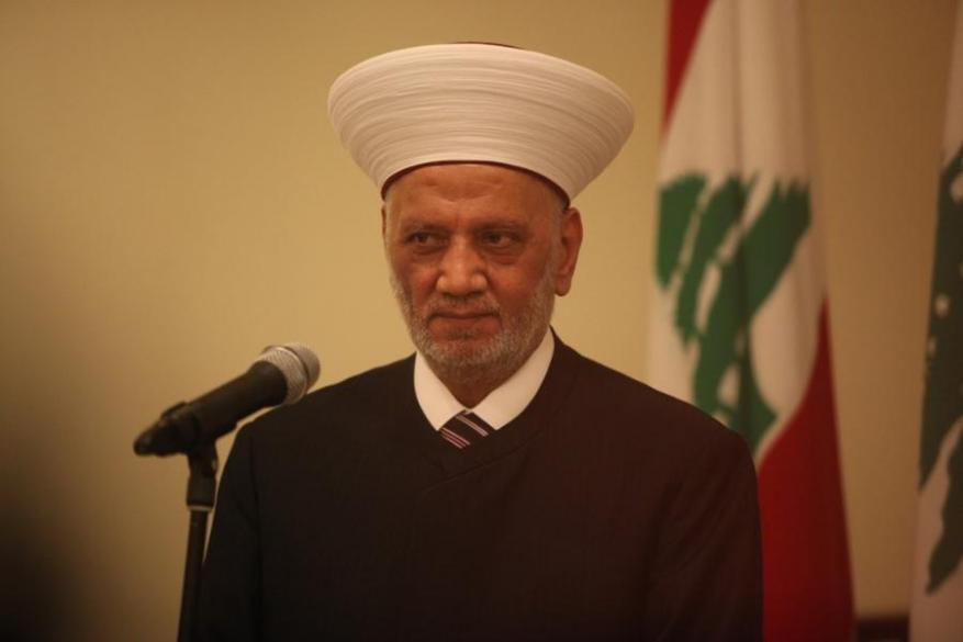 مفتي لبنان يطالب بتحقيق مطالب المحتجين وتشكيل حكومة تكنوقراط