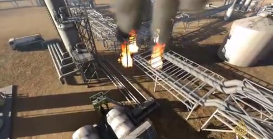 شاهد كيف هاجمت طائرات الحوثي المسيرة أنابيب النفط السعودية؟