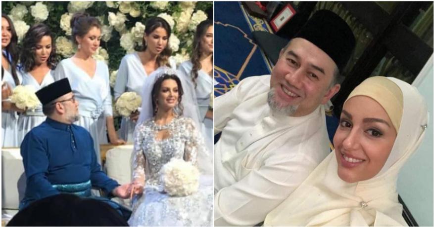 ملك ماليزيا ينزل عن عرشه بعد شهرين من زواجه ملكة جمال روسية