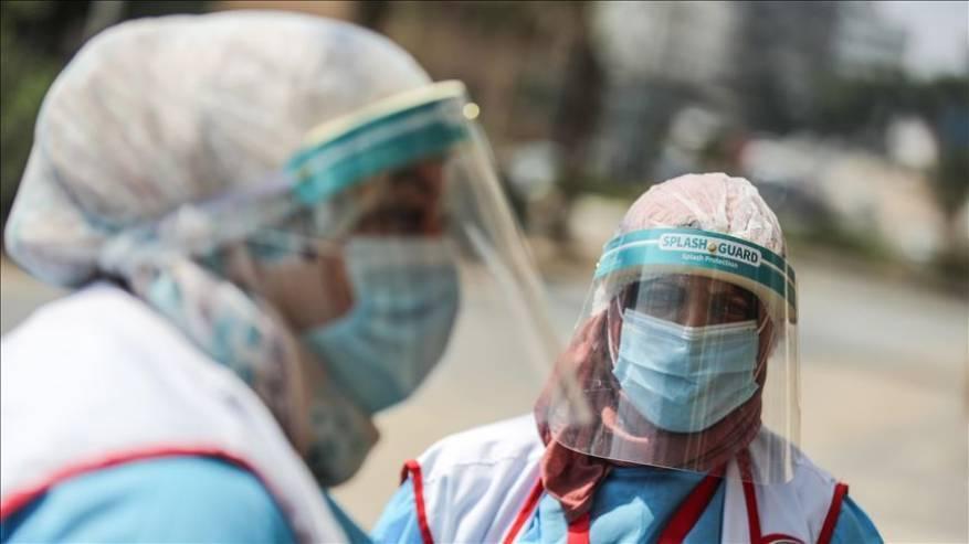 الصحة بغزة: حالة وفاة و156 إصابات جديدة بفيروس كورونا و77 حالة تعافٍ