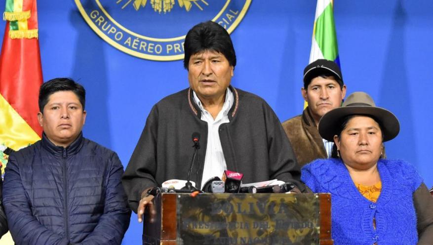 الرئيس البوليفي يعلن استقالته عقب احتجاجات واسعة على نتائج الانتخابات