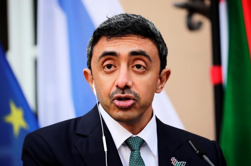 """وزير خارجية الإمارات يهاجم """"حمـــ,,اس"""" خلال افتتاح مكتب """"اللجنة اليهودية الأمريكية"""" بأبوظبي"""