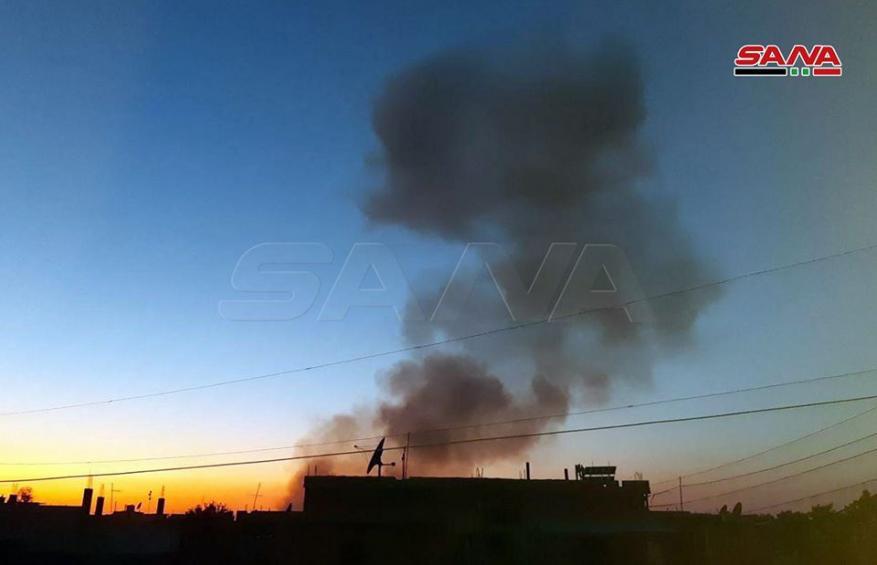 """المشاهد الأولى للانفجارات الهائلة في مستودعات أسلحة """"قسد"""" في الحسكة السورية"""