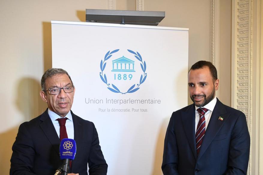 عقب لقائه مرزوق الغانم.. رئيس البرلمان الدولي يدين الاستيطان وممارسات الاحتلال