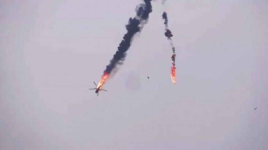 المعارضة السورية تعلن إسقاط مروحية عسكرية ثانية للنظام (فيديو)