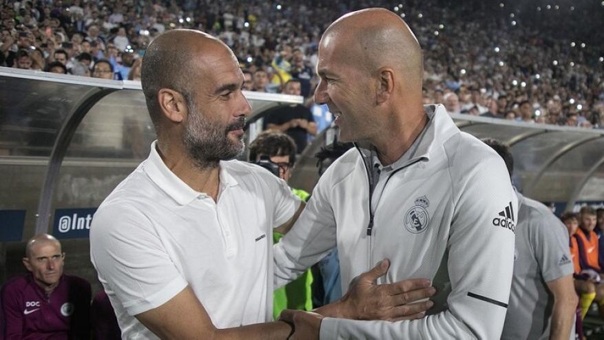 غوارديولا وزيدان يتبادلان المديح قبل مواجهة ريال وسيتي اليوم