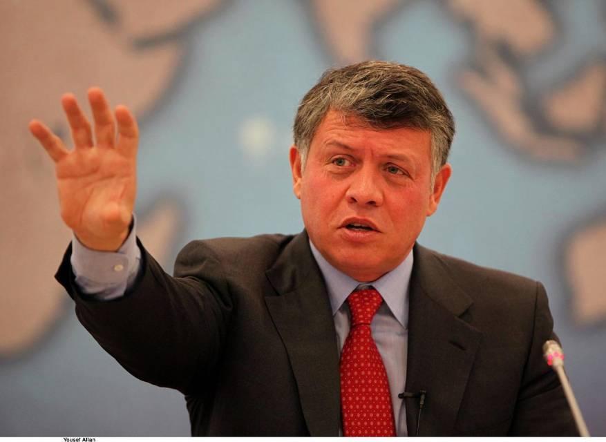 العاهل الأردني يطالب بدور أمريكي فاعل في عملية التسوية