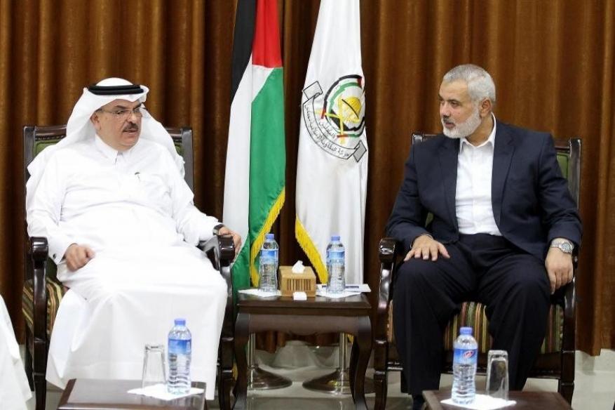 """هنية"""" يبحث مع """"العمادي"""" التطورات السياسية الفلسطينية"""