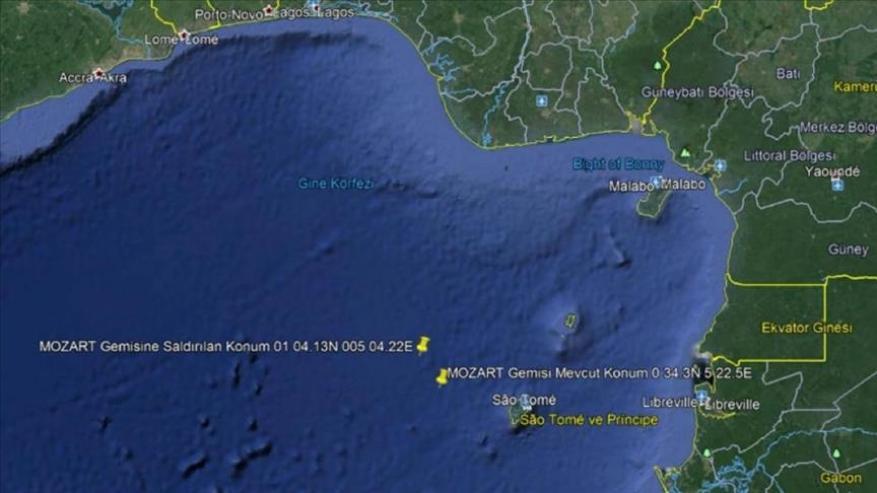 استنفار دبلوماسي تركي لإنقاذ طاقم سفينتها المختطفة قبالة نيجيريا