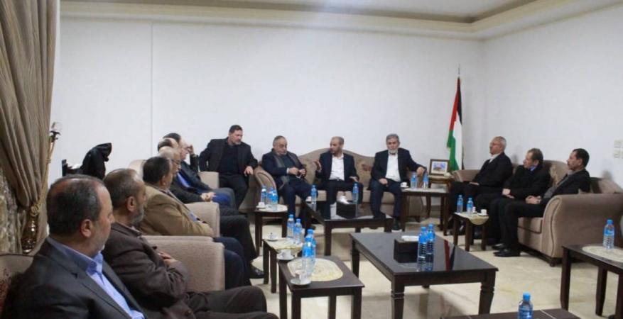 حماس تبحث مع قيادات الفصائل بلبنان سبل مواجهة صفقة القرن