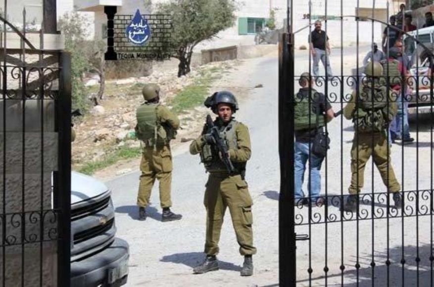 شاهد: الاحتلال يقتحم مدرسة برام الله ويروع طلبتها