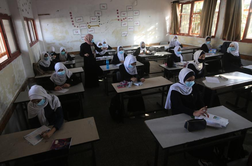 ضمن عملية تقييم.. طلبة الثانوية العامة في غزة يستكملون أسبوعهم الدراسي الأول