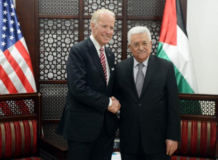 عباس يهنئ بايدن على توليه منصبه الرئاسي رسميا