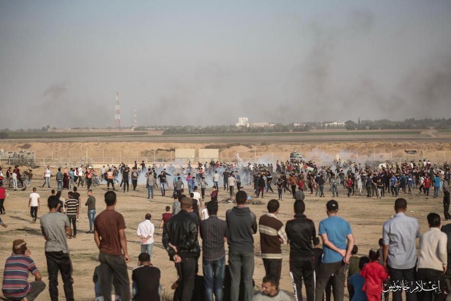 """إصابات بقمع الاحتلال فعاليات """"جمعة مستمرون"""" شرقي قطاع غزة"""