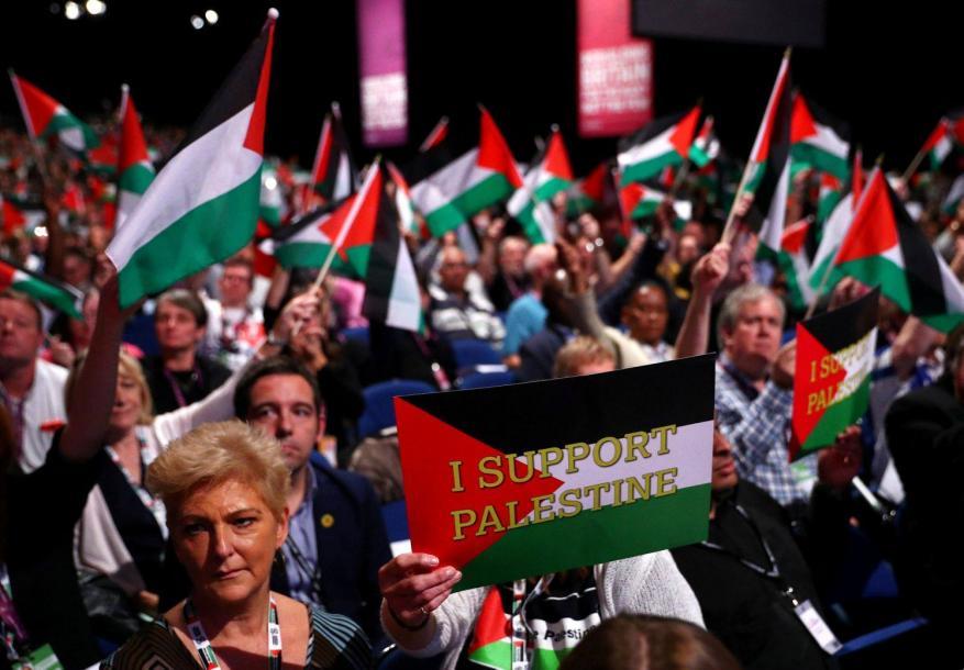 """حزب العمال البريطاني """"بيتكلم فلسطيني"""""""