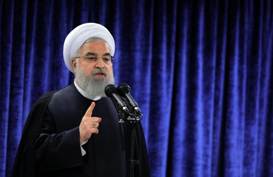 روحاني: الشعب الفلسطيني له الحق في تقرير مصيره وإقامة دولته على كامل أرضه
