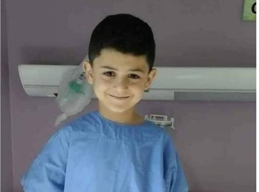 وفاة الطفل أمير زيدان بعد 3 سنوات من المعاناة بمستشفيات الضفة