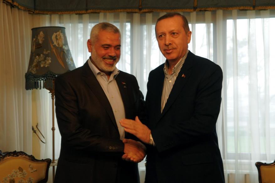هنية يثمن مواقف أردوغان الداعمة للشعب الفلسطيني
